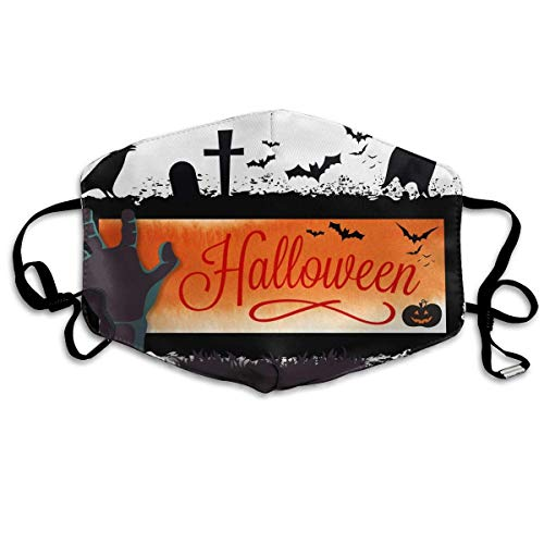 (SOADV Mouth Masks Happy Halloween Pattern Mouth Masks Unisex Anti-Dust Flu Washable Reusable Mouth Mask Fashion Design for Girls Women Boys)