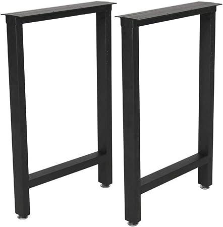 4 Tubes Metal Table Legs Square Feet Table Desk Chair DIY Furniture Support Leg