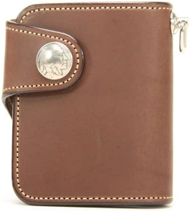 KC,s Leather Craft Billfold Color Brown Handmade in Japan