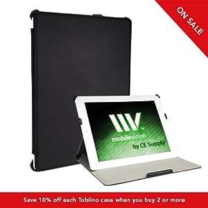 Toblino 2 black leather iPad 2 multi-angle stand case