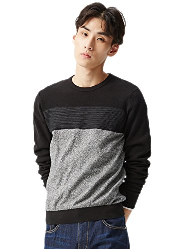 meters-bonwe-mens-fashion-round-neck-color-block-pullover-knitted-sweater-black-xl