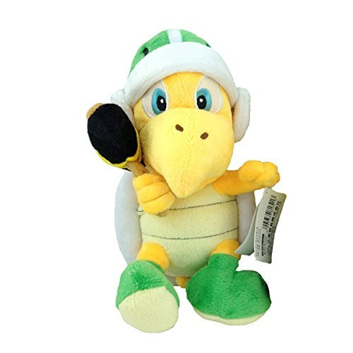 Super Mario Bros Koopa Troopa Hammer Green Turtle Plush Toy Stuffed Animal 8