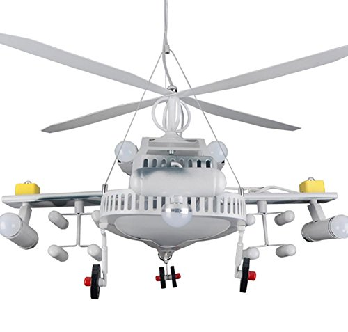 DGS Creative Helicopter Personality Flop Chandelier Children Bedroom Lights Led Room Boy Cartoon Lights