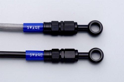 SWAGE LINE(スウェッジライン) フロント&クラッチホースセット フロントホース:ダイレクトタイプ アルミ(ブラック/ブラック) クリアホース ZEPHYR1100RS 96-06 BAW735 [HTRC9]  ホース色 : クリアホース B008OCAYZ2