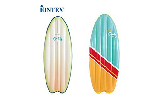 Intex Surf's Up Vintage and High Wave Surfboard Inflatable Mats with Fiber-Tech Construction 70