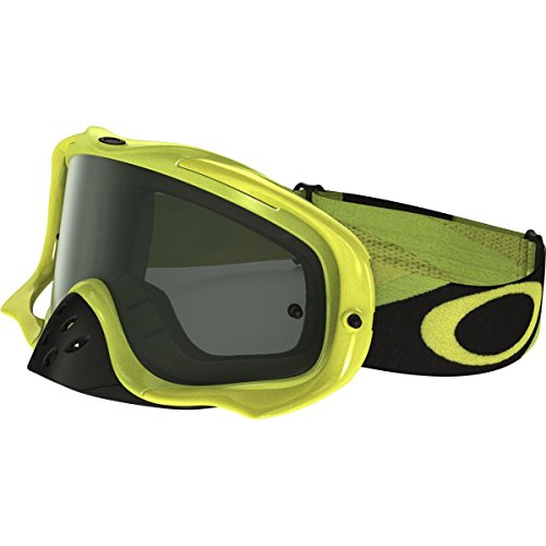 Oakley Crowbar MX Heritage Racer Adult Off-Road Motorcycle Goggles Eyewear - Green Yellow/Dark Grey/One Size Fits All ()