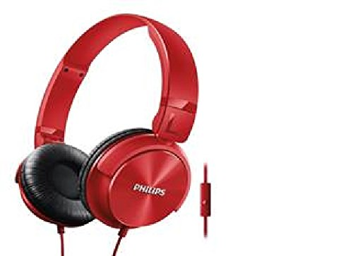 Philips SHL3095RD/94 DJ Style Monitoring Headphone With Mic- Red
