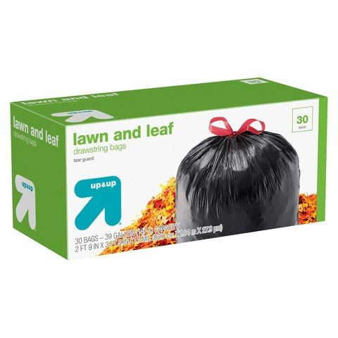 """up & upâ""""¢ Lawn and Leaf Drawstring Bags 39 gallons 30 ct"""