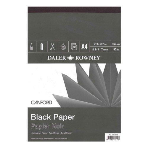 Canford Pad Raven Black 8.25X11.75 Daler Rowney DR403355400
