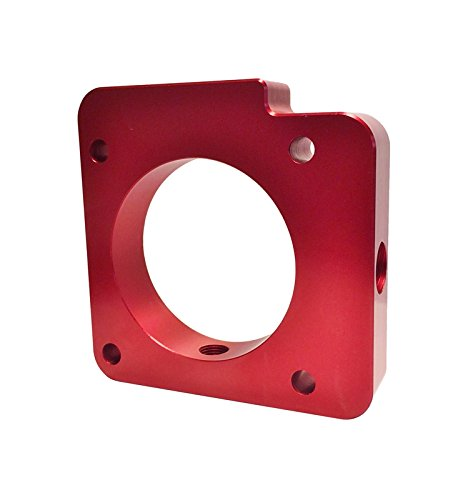 Torque Solution TS-TBS-027R Red Throttle Body Spacer(Subaru Wrx 2006-2014/Sti 2004-2015)