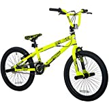 "20"" Thruster Chaos Boys' BMX Bike, Neon Yellow"