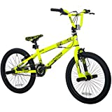 "20"" Thruster Chaos Boys' BMX Bike, Neon Yellow"