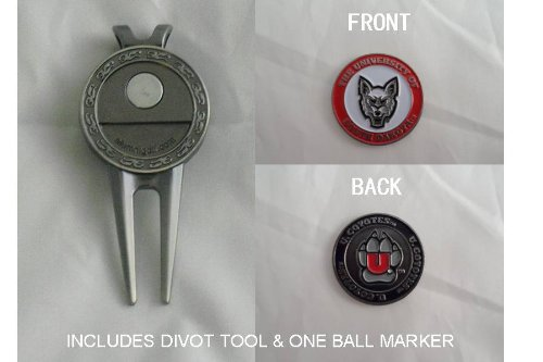 Ball Dakota Golf South (South Dakota University Double Sided Golf Ball Marker & Divot To)