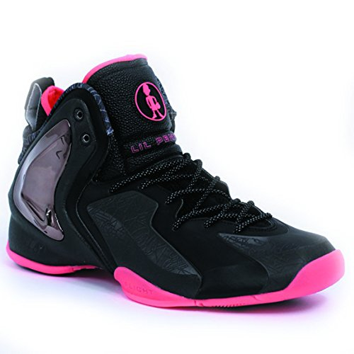 Nike Men's LIL Penny Posite PRM QS, BLACK/BLACK-ATOMIC RED, 8.5 M US (Penny Posite Red compare prices)