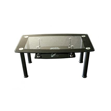 Amazon Com Square Glass Coffee Table With Shelf Storage Floral