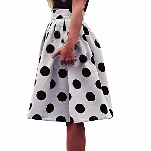 Tonsee Polka femmes Jupes Puffy Retro parapluie Dot jupe moulante 1BFxq1wr