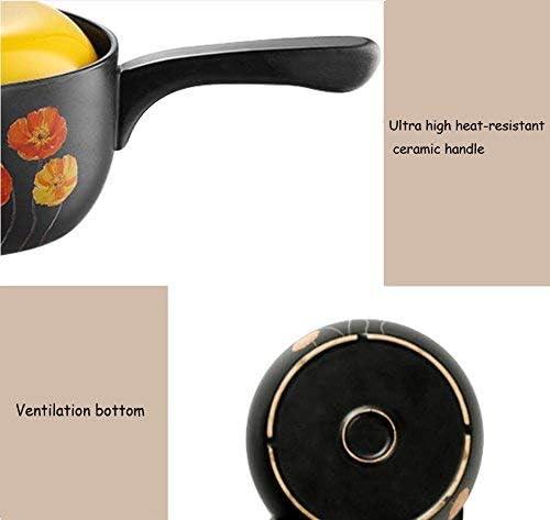 Casserole soupe Pot Petit lait Pan Pot soupe en céramique Casserole soupe Flamme antiadhésives Pan Pot Smokeless cadeau Bateau à vapeur