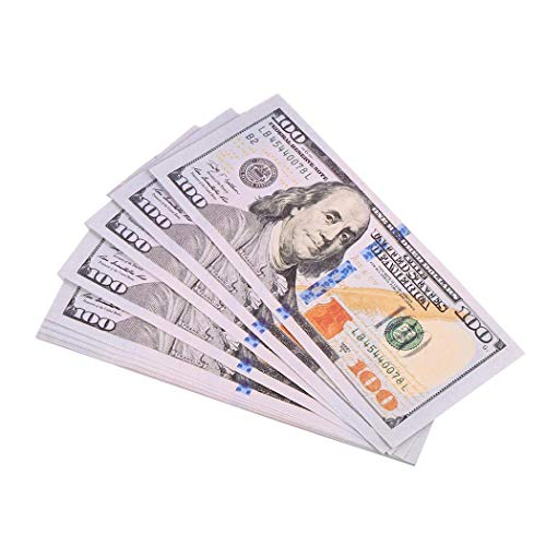 Ruior 100 Dollar Cash Bills Training Counting Party Props Paper Currency Money Money & Banking