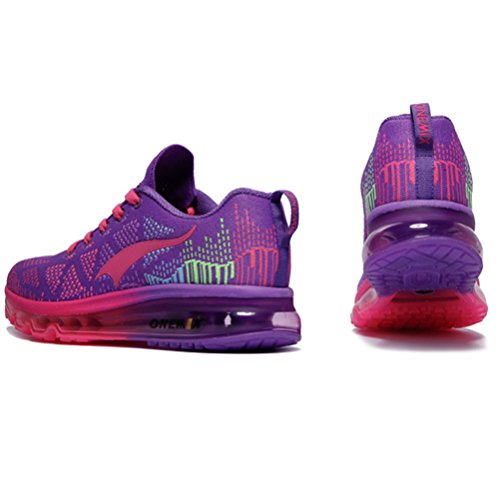 Yidiar Femmes Léger Flexible Air Coussin Chaussures De Course En Plein Air Gym Athlétisme Baskets Violet