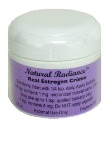 Eclat Naturel Estrogen / Estriol Bioidentical Cream Jar, non parfumé, 2 once
