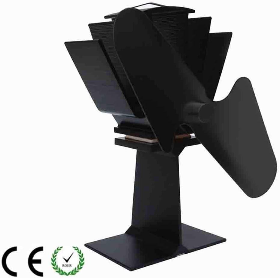 YLOVOW Estufa de leña Abanico-2 aspas Estufa activada por Calor Ventilador de la Estufa de leña Funcionamiento silencioso con Estufa Potencia de Calor Grande Ventilador de la Estufa de leña a leña