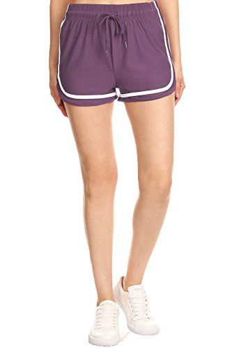 Pro Fit Women Summer Beach Shorts Casual Pants (PF6465-Berry, ()
