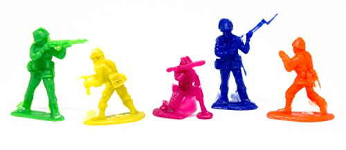 Blue-Mango Soldier Plastic Toys Army Men Colorful Vintage Reproductions 90 Pieces.
