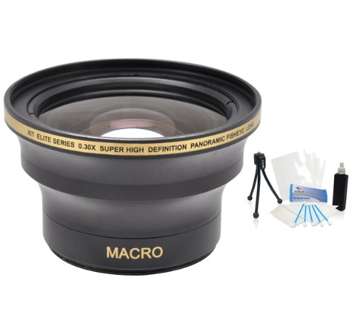 62mm Xit 0.30x Ultra Wide Panoramic HD Fisheye Lens BUNDLE. For The Olympus PEN E-PM1, E-PM2 Digital Cameras Which Have This (18-180mm) Olympus Lens. UltraPro BONUS Included: Mini Tripod, Deluxe Cleaning Kit, LCD Camera Screen Protector
