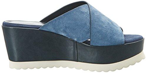 Atelier Mercadal Kim, Sandalias con Plataforma Para Mujer Bleu (Camoscio Blue Jeans)