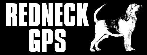 Redneck GPS Bloodhound Bumper Sticker (car (Bloodhound Sticker)