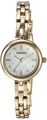 Armitron Women's 75/5496MPGP Gold-Tone Bracelet Watch