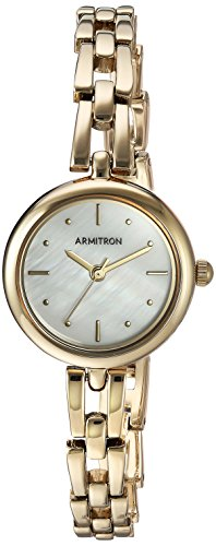 Armitron Women's 75/5496MPGP Gold-Tone Bracelet Watch