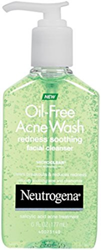 Neutrogena Oil Acne Wash Redness Soothing Facial Cleanser 6 Ounce Pack of 2