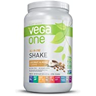 Vega One All-In-One Nutrition Shake Coconut Almond (20 servings, 29.4 ounce) - Plant Based Vegan Protein Powder, Non Dairy, Gluten Free, Non GMO