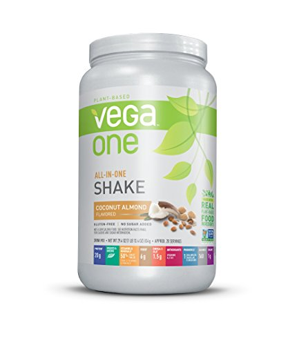 Vega One All-In-One Nutrition Shake Plant Based Protein Powder, Coconut Almond,20 servings,net weight 29.4 ounce - Powder Almond