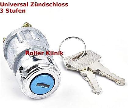 Universal 3-Stufen Zündschloss Schlüsselschalter Zündanlassschalter KFZ Traktor