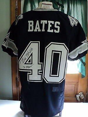 Bill Bates signed Cowboys jersey, JSA Witness, #40, 3 X S B Champs ...