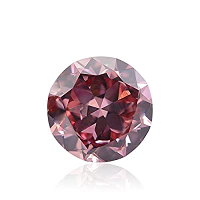 0.62Cts Fancy Vivid Purplish Pink Loose Diamond Natural Color Round Cut GIA Cert