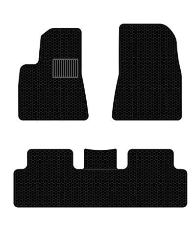 All Weather Waterproof Floor Mats Compatible for Tesla Model 3 – Heavy Duty – Black Rubber Environmental Materials Car Carpet Model 3 (3 Piece a Set)