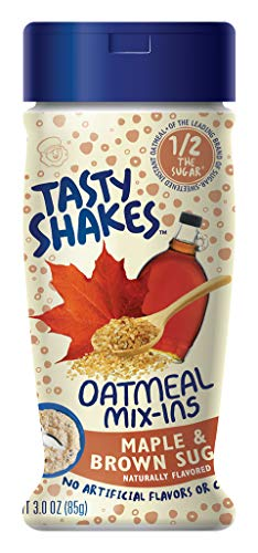 Tasty Shakes Oatmeal Mix-ins, Maple Brown Sugar, 3 Ounce (Pack of 6)