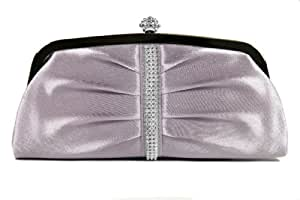 Lavender Sophisticated Evening Purse - Clutch with High Quality Rhinestone