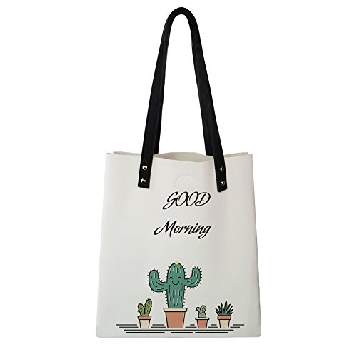 4 Instantarts Shoulder Bags Tote Cactus Cactus Women for Print Leather Summer Novelty w7xPrWqSX7