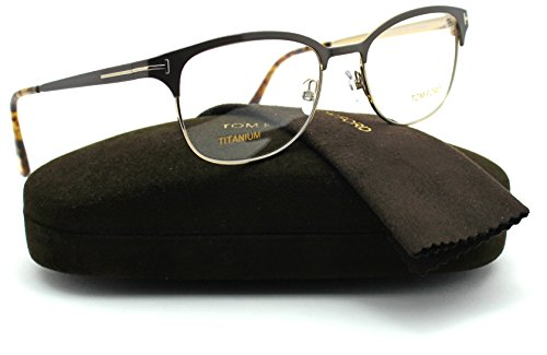 Tom Ford FT5381 Unisex Titanium Eyeglasses (Dark Brown Frame 050, - Ford Discount Eyeglasses Tom