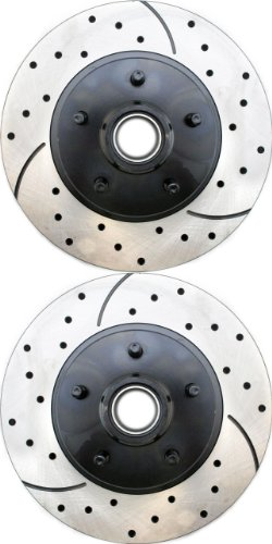 Prime Choice Auto Parts PR64031LR Performance Drilled and Slotted Brake Rotor Pair for Front
