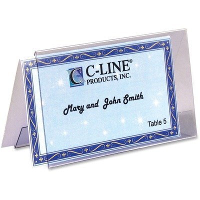 C-Line Scored Tent Cards, White Cardstock, 2 x 3 1/2, 4/sheet, 40 sheets/BX by C-Line