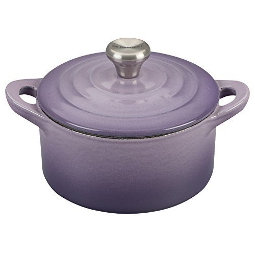 - Le Creuset Provence Enameled Cast Iron 0.3 Quart Mini Cocotte with Stainless Steel Knob