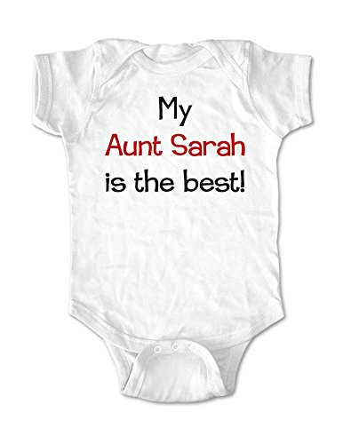 My Aunt (or Uncle or Grandma or Grandpa) Custom Name is the best! - cute baby birth pregnancy announcement bodysuit (Newborn Bodysuit, White) Great Maternity Clothes