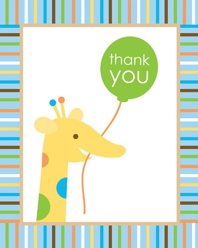 Creative Converting Sweet at One Boys Thank You Notes, 8 Count (1st Birthday Thank You)