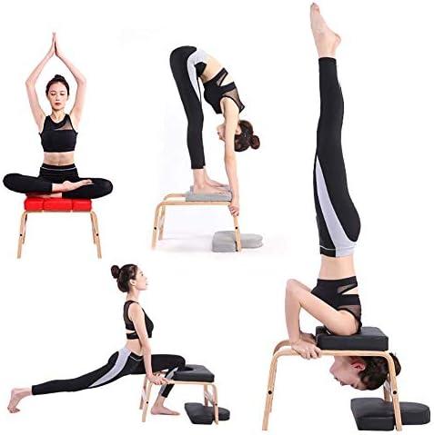 LUUDE Hêtre Headstand Tabouret, Stand Chaise Yoga Sport Multifonctionnel Banc de Musculation équipement de Conditionnement Physique pour Le Corps Parfait,Style8