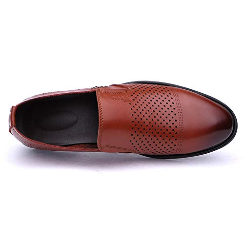 Oxford Slip Hombre Transpirables de Ofgcfbvxd para On para Perforation de pie Ligero Fashion Formales Marrón Pedal un Casual Trabajo Mocasines Zapatos para Calzado y cómodos Oxford Caminar nEttw0qzZ